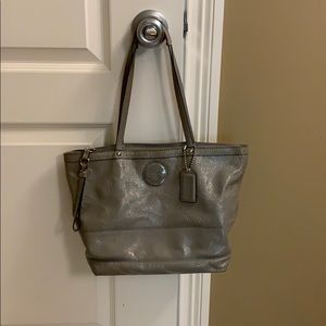 Gray coach purse